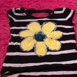 Girls size 12 flower Justice shirt